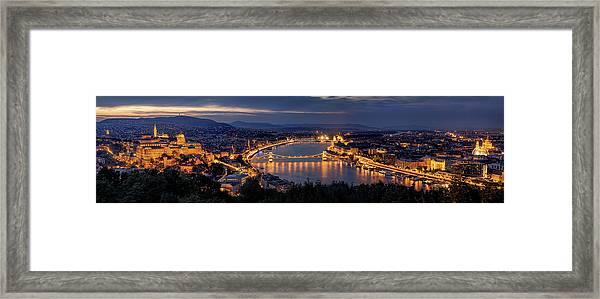 Panorama Of Budapest Framed Print