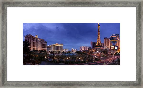 Panorama Of Las Vegas Framed Print