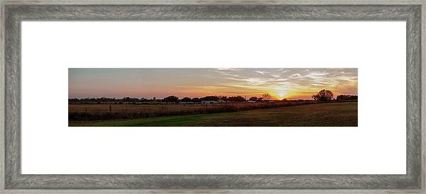 Panorama Of Sunset On South Texas Framed Print