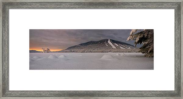 Panoramic Of Shawnee Peak And Moose Pond Framed Print