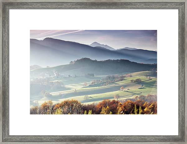 Panoramic Photograph Taken From Lourdes Framed Print