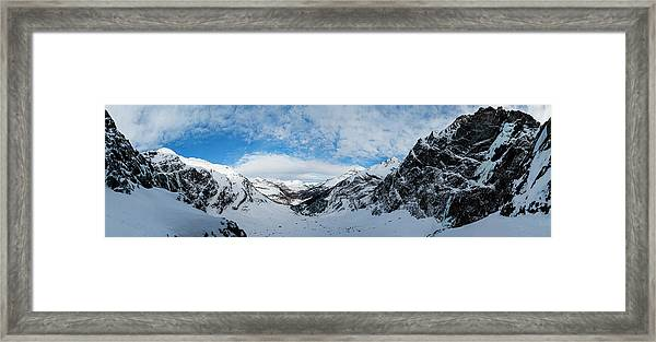 Panoramic View From The Top Framed Print