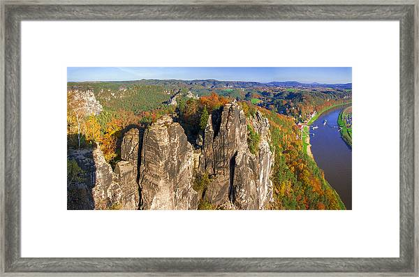 Panoramic Views Of Neurathen Castle Framed Print