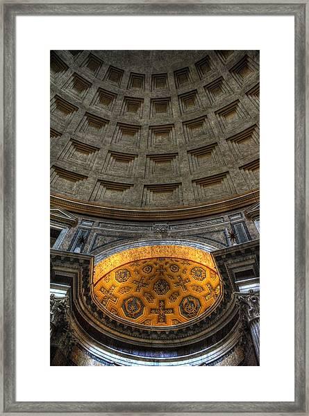 Pantheon Ceiling Detail Framed Print