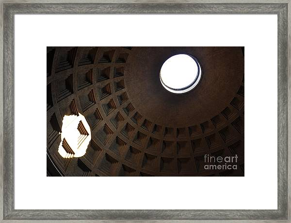 Pantheon Dome Framed Print by Katie Fitzgerald
