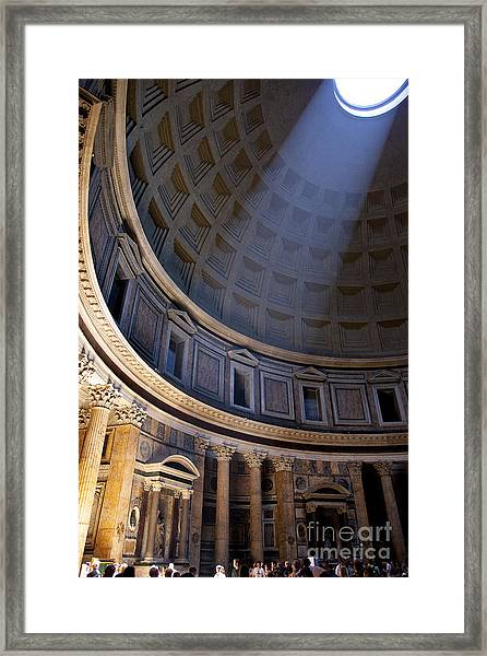 Framed Print featuring the photograph Pantheon Interior by Brian Jannsen