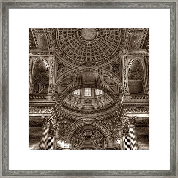 Pantheon Vault Framed Print