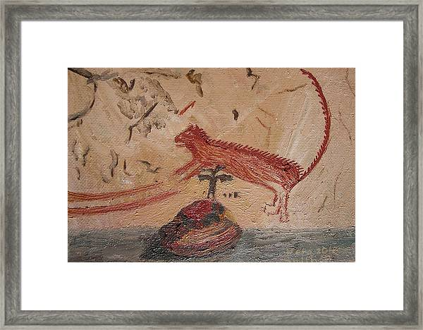 Panther From Panther Cave Framed Print