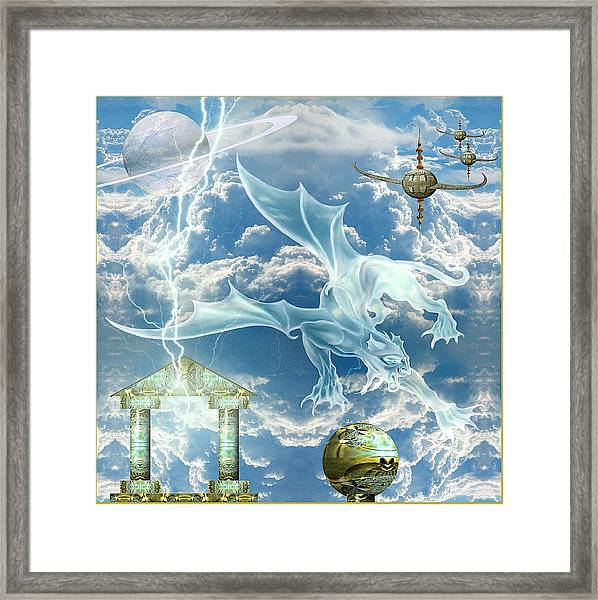 Panthera Draconis Realm Framed Print