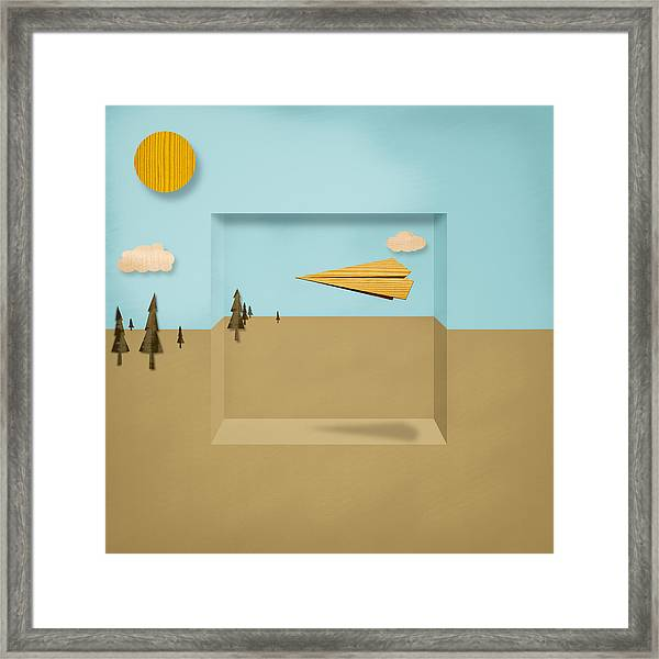 Paper Airplanes Of Wood 12 Framed Print