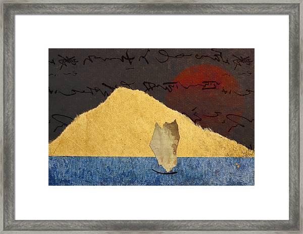 Paper Sail Framed Print