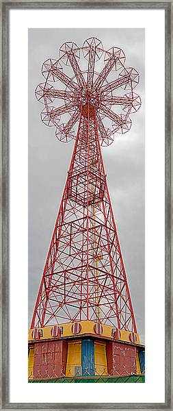 Parachute Jump Tower Along Riegelmann Framed Print