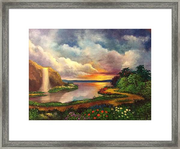 Paradise And Beyond Framed Print