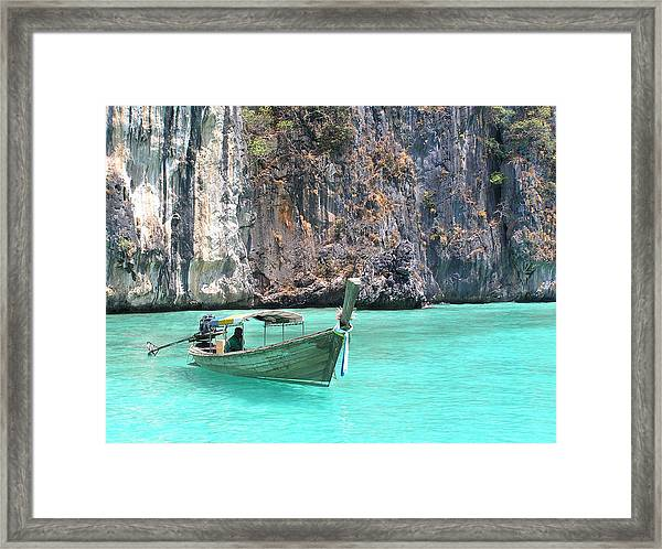 Paradise Water Holiday Framed Print
