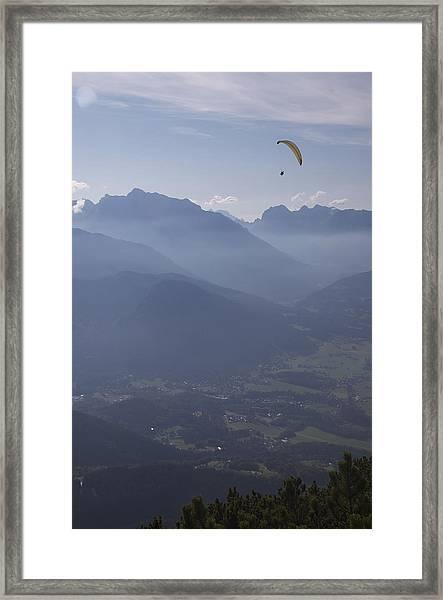 Paraglider's View Framed Print