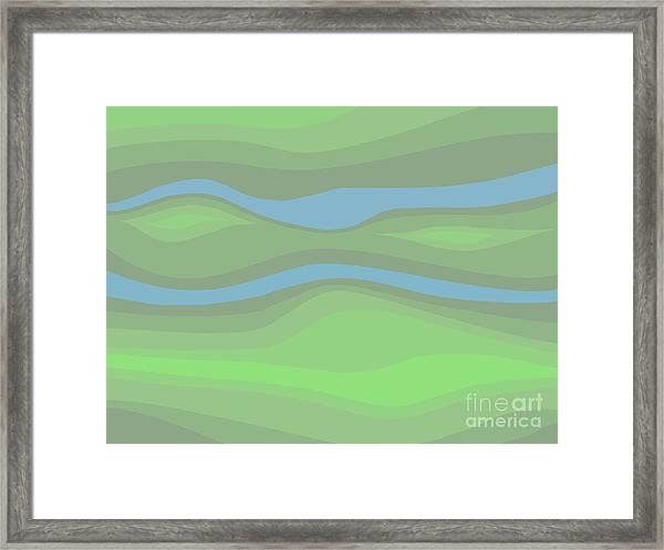 Parallel Streams Topo Framed Print