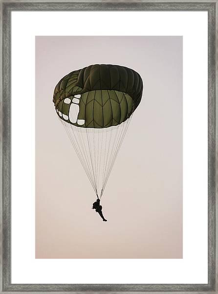 Paratrooper Military Parachutists Framed Print