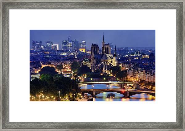 Paris & La Défense Framed Print