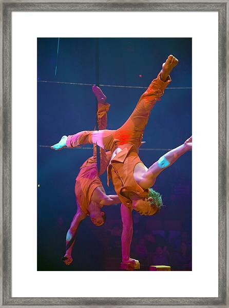 Paris Circus Acrobats Framed Print