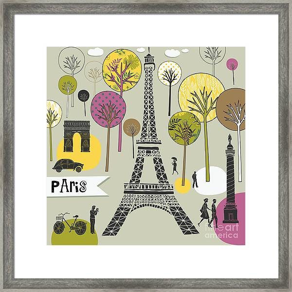 Paris France Art Print Framed Print