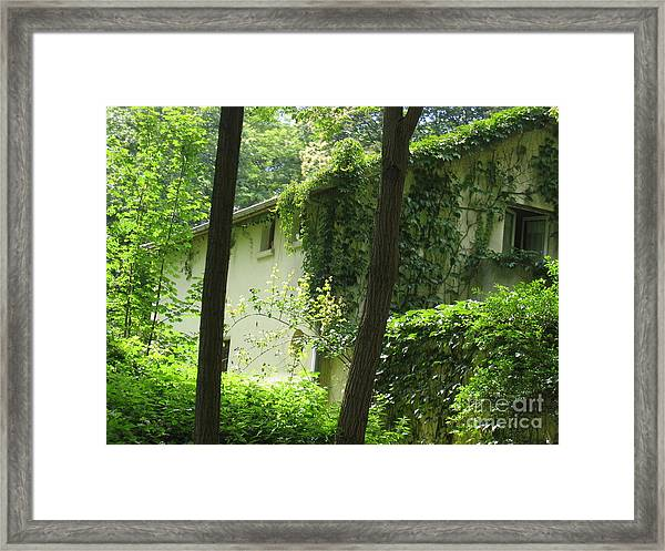Paris - Green House Framed Print