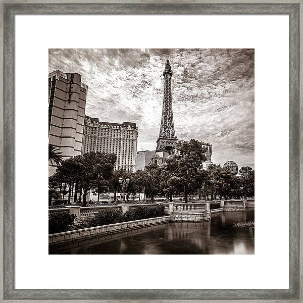 Paris Las Vegas Framed Print