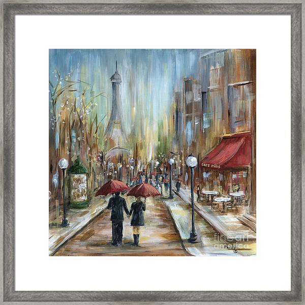 Paris Lovers Ill Framed Print