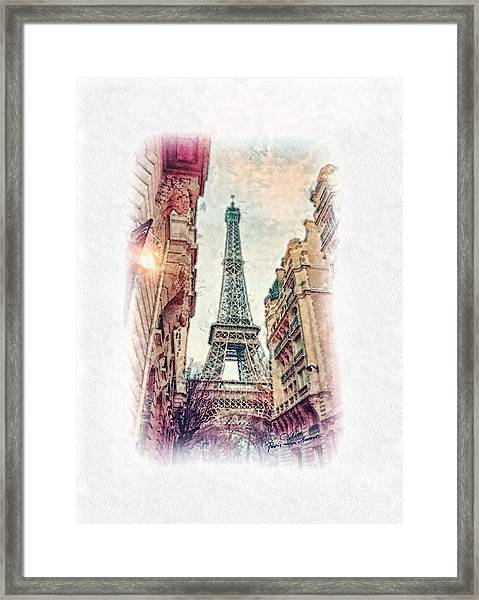 Paris Mon Amour Framed Print
