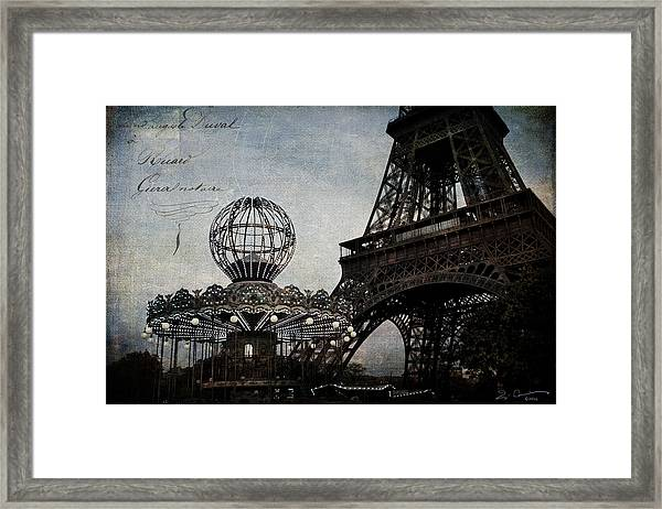 Paris One More Ride Framed Print