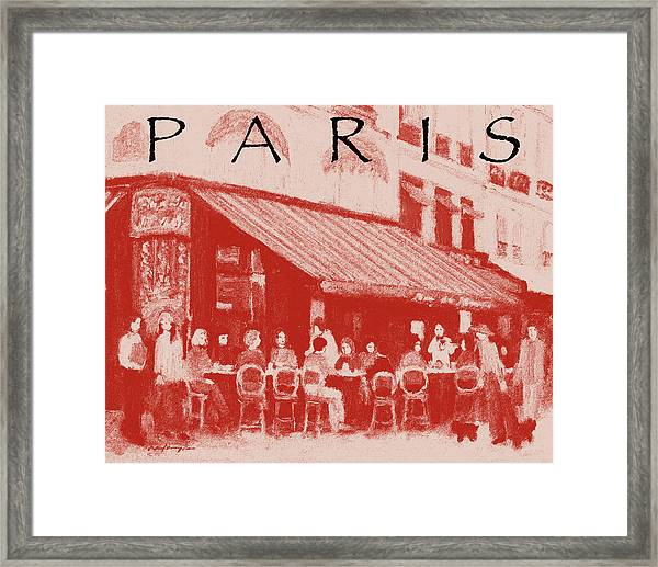 Paris Poster 2 Framed Print