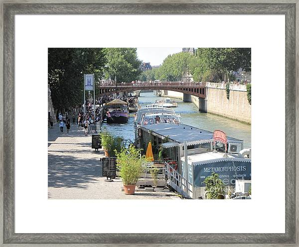 Paris - Seine Scene Framed Print