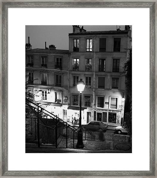 Paris-steps-montmartre Framed Print
