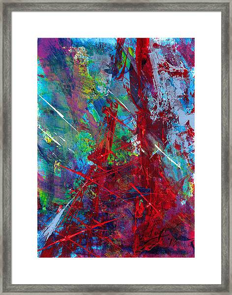 Paris Storm Framed Print