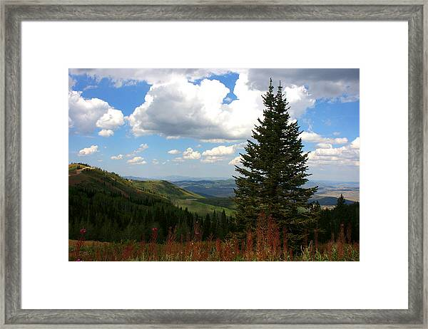 Park City Utah View Framed Print by Darrin Aldridge