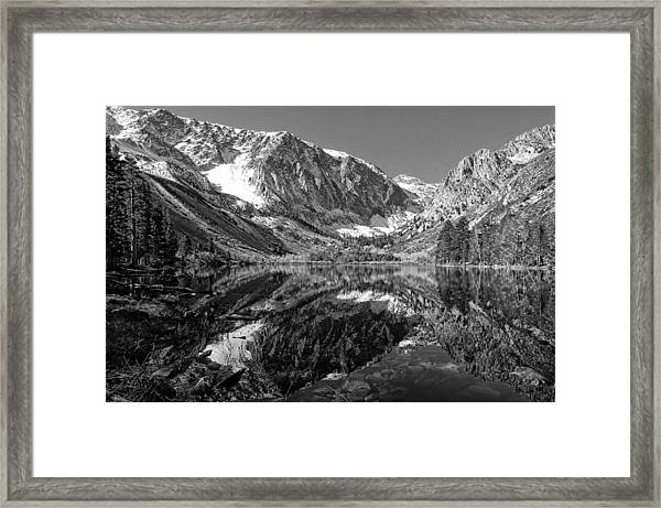 Parker Lake Black And White Framed Print