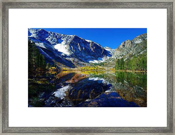 Parker Lake California In Fall Framed Print