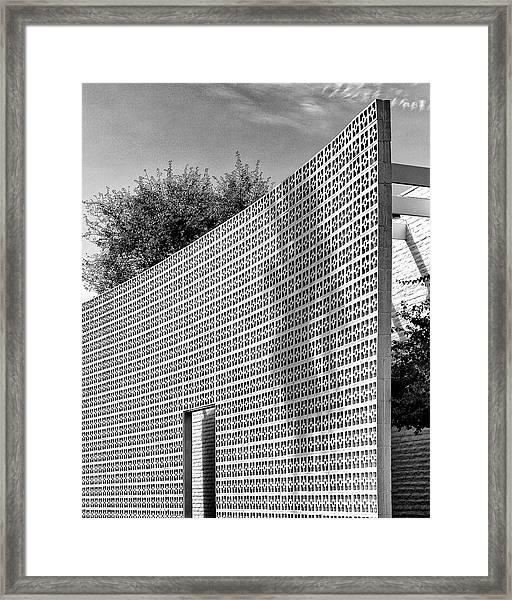 Parker Shadow Palm Springs Framed Print