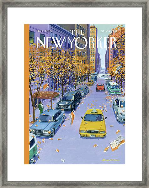 Parking Tickets Falling Off Trees Similar Leaves Framed Print