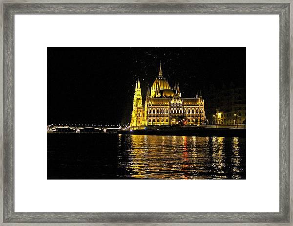 Parliament At Night Framed Print