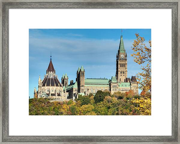 Parliament Hill In Autumn Framed Print