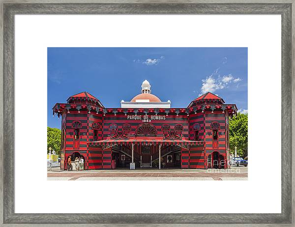 Parque De Bombas Fire Station In Ponce Puerto Rico Framed Print