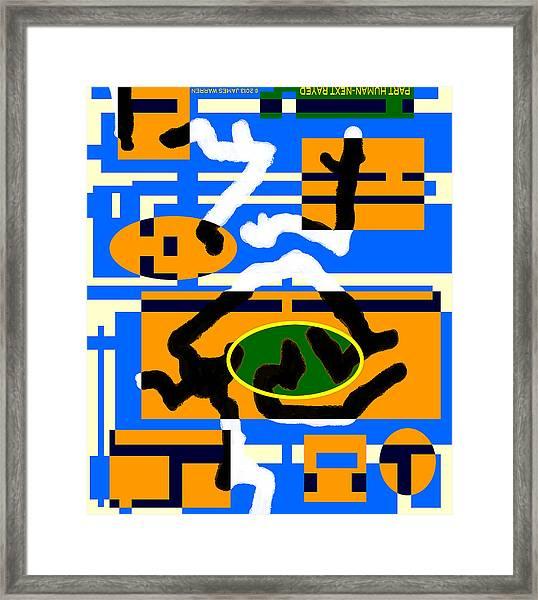 Part Human - Next Rayed 2013 James Warren Framed Print