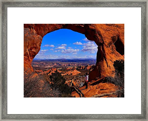 Partition Arch Framed Print