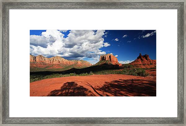 Partly Cloudy With A Chance Of Scenery Framed Print