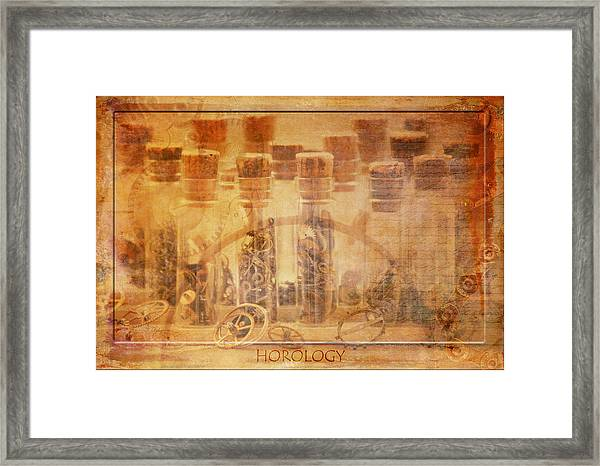 Parts Of Time Framed Print