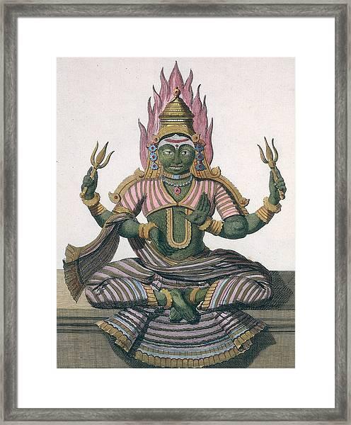 Parvati, From Voyage Aux Indes Et A La Framed Print