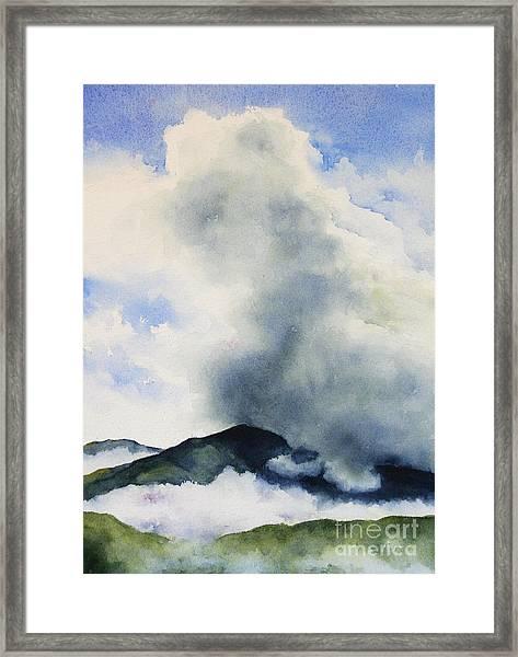 Passing Storm On Mt. Diablo Framed Print