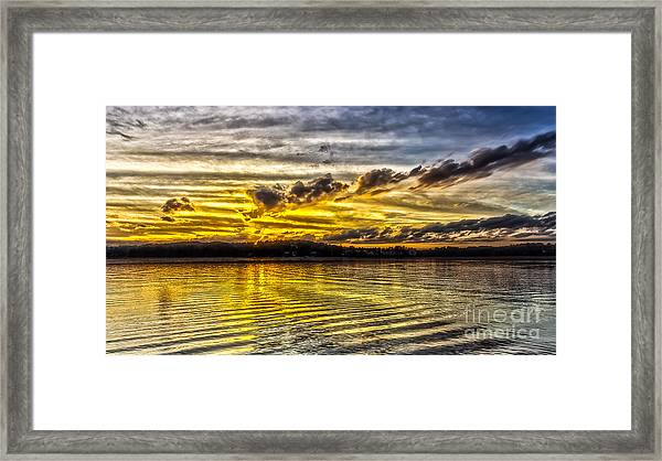 Passing Storm Two. Framed Print