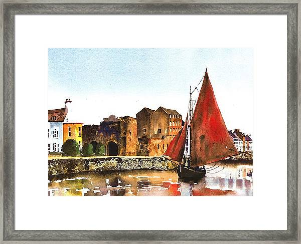 Passing The Spanish Arch Galway Framed Print