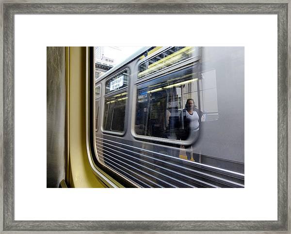 Passing Trains Framed Print